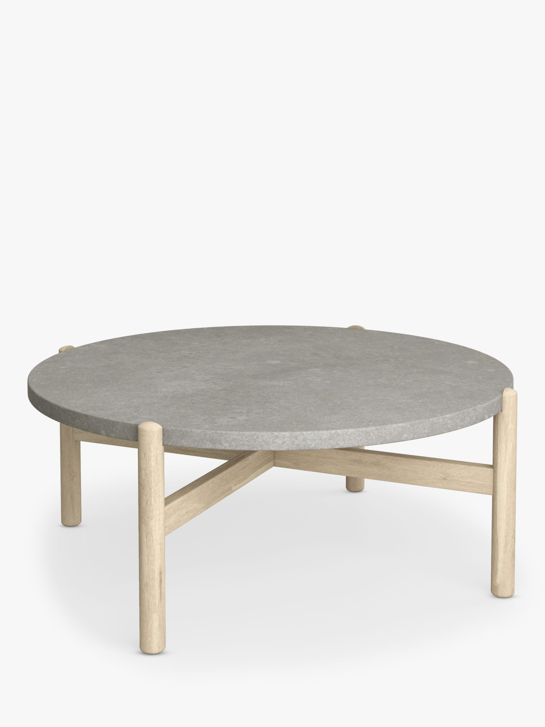 john lewis partners cradle round garden coffee table fsc certified acacia wood