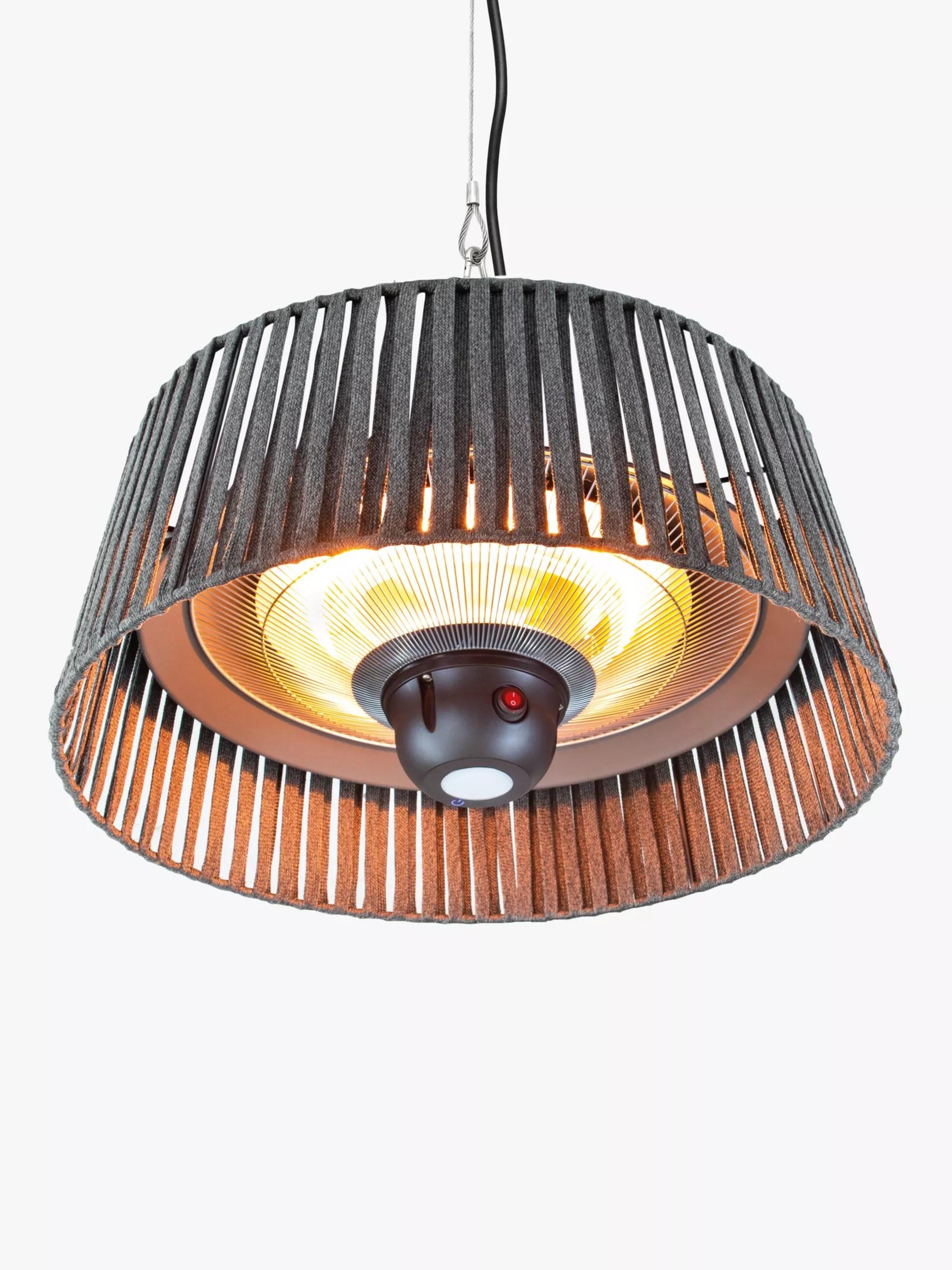 kettler kalos plush hanging pendant electric patio heater grey