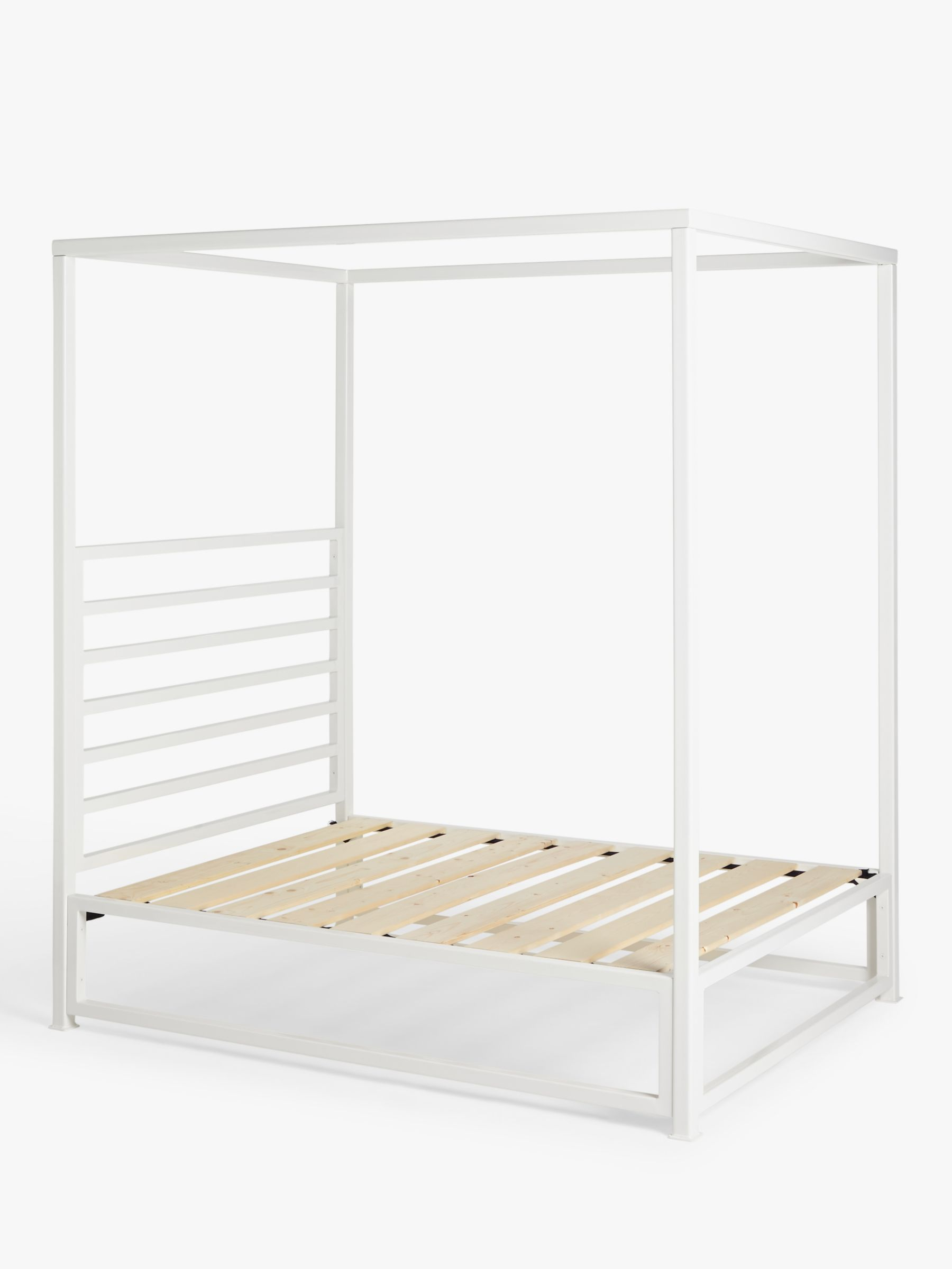 wrought iron and brass bed co sunna 4 poster outdoor bed frame and open coil mattress king size