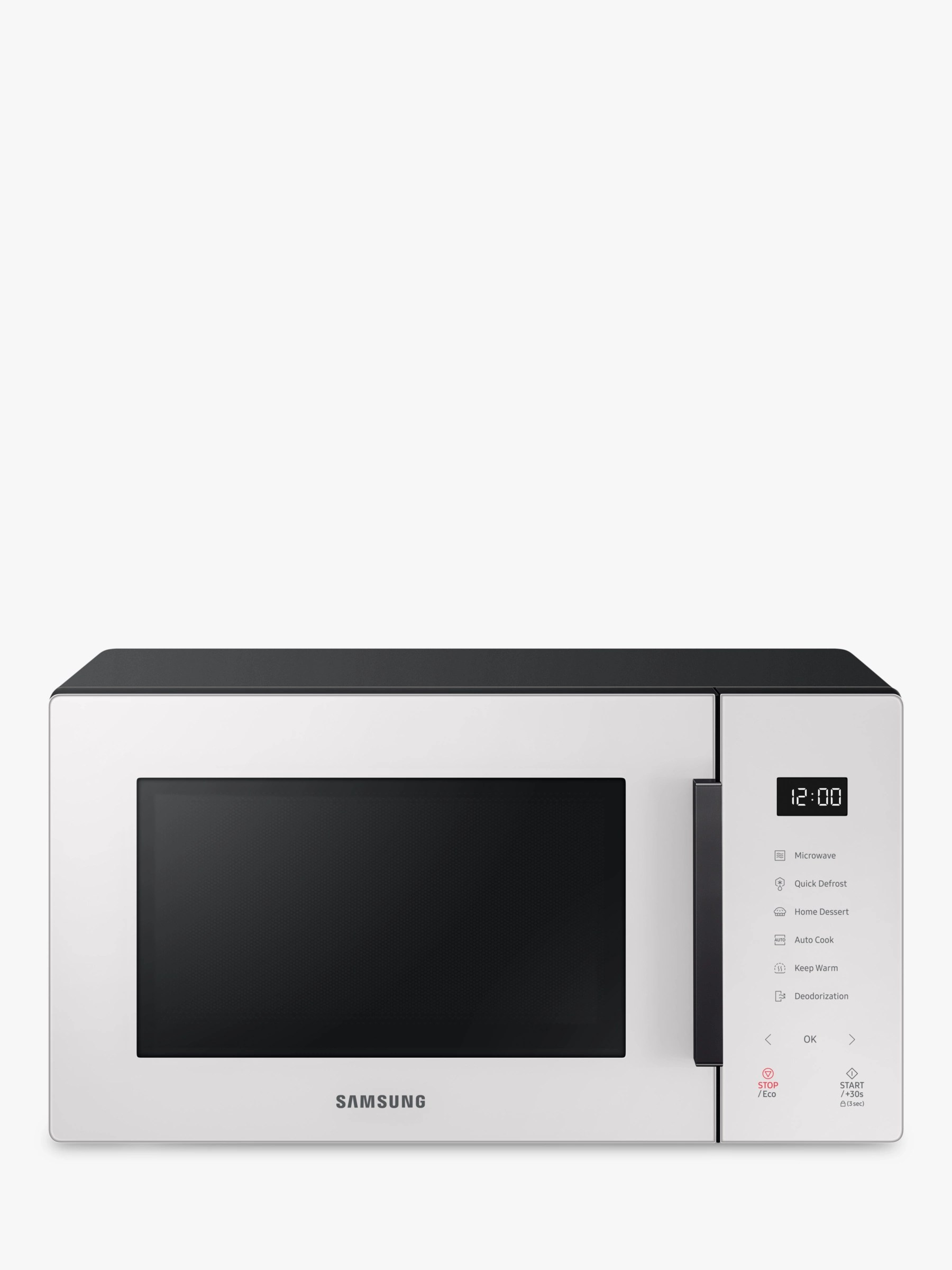 samsung ms23t5018ae freestanding microwave white