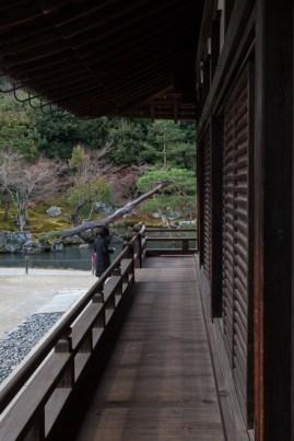 Tenryu-ji Temple - Main Hall exterior - south side