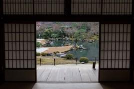 Tenryu-ji Temple - view to Sogen-chi Pond - pic 2