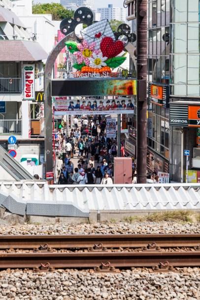 Takeshita Street from Station Platform