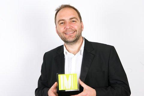 John Lyle with Drum Marketing Award Grand Prix for BeWILDerwood