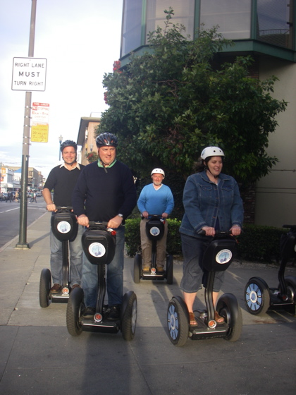 All abord the Segway's = the only way to travel