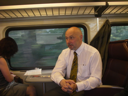 The Sheriff Leon on the train to Plymouth