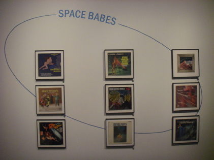 The Space Babes Album cover display of 50's pop art