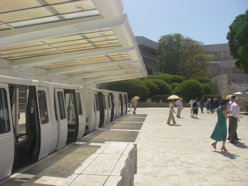 The tram at the Getty Center