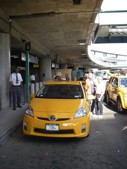 They even have hybrid taxi's in New York now, but you have to pay extra for the privilege of using them