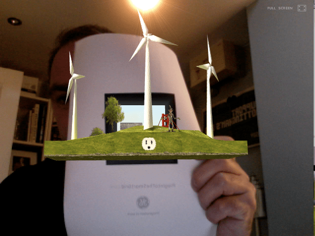 My very own GE wind farm created in my very own office - amazing