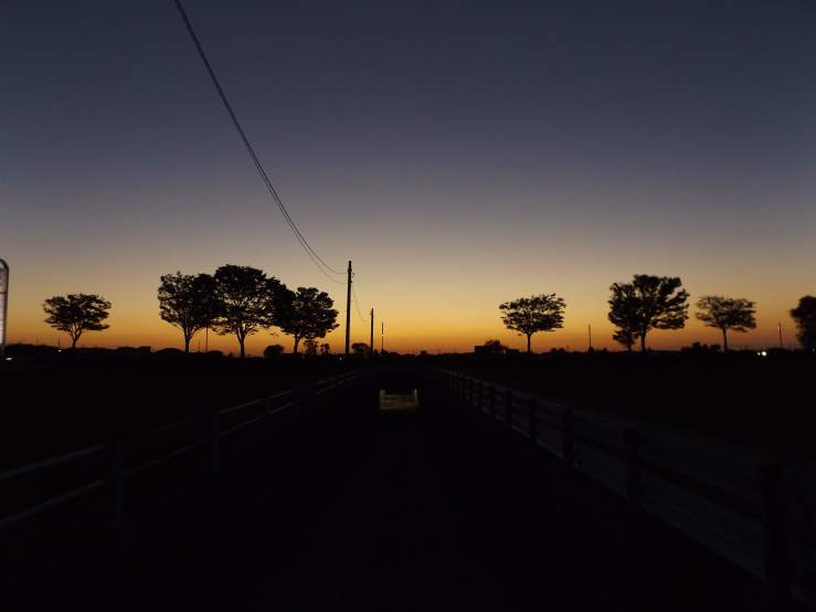 sunset in hakusan photo
