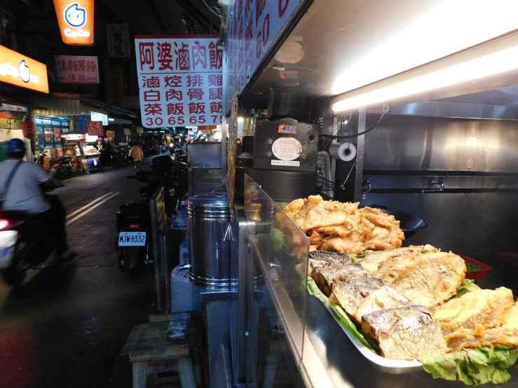 fried fiish stall photo