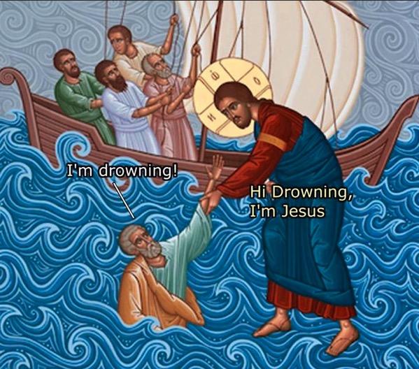 HiDrowningImJesus