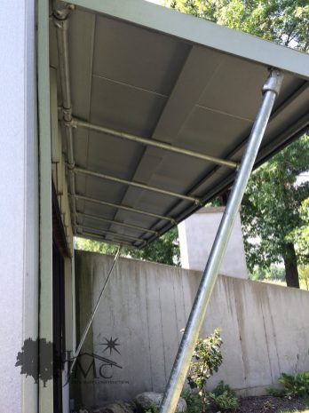 Awnings of Metal Piping in Goshen, Indiana