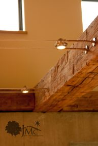 Barn Beam in House for Lighting in Goshen, Indiana