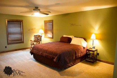 Guest Bedroom in Rustic Home in Bremen, Indiana