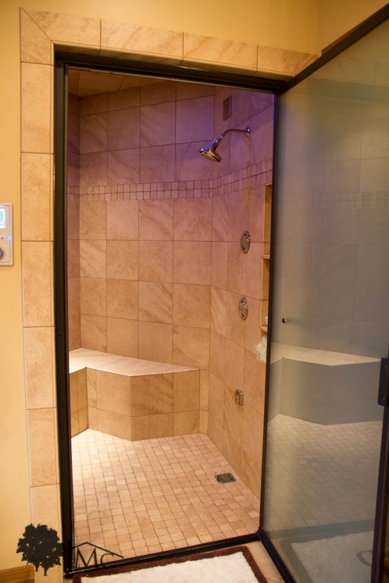 Large Tile Walk-In Shower in Bremen, Indiana