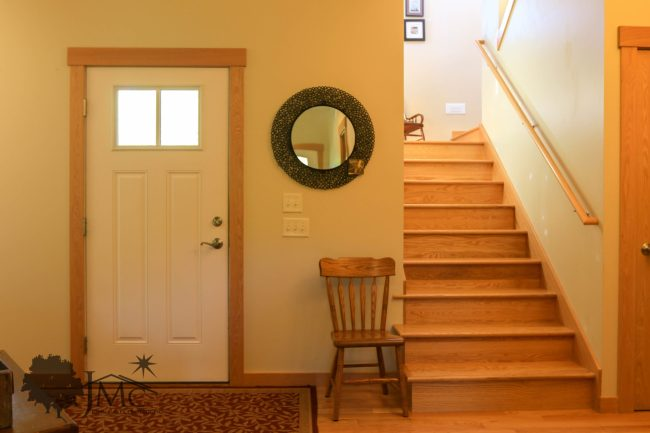Interior front entry with stairs