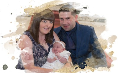 Luna McDonald – Greenock Christening Photography