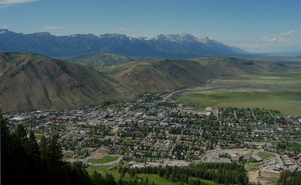 View of Jackson, Wyoming Real Estate from Snow King