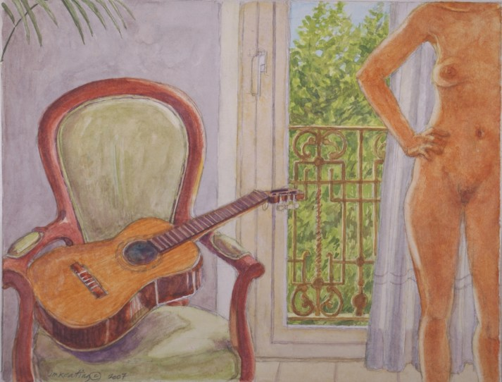 Intimate Strangers 2 (left panel) - Watercolor - 9 x 12 inches