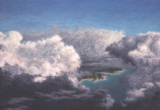 Over Islands - Acrylic/masonite - 22 x 32 inches