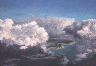 Over Islands - Acrylic/masonite - 22 x 32 inches