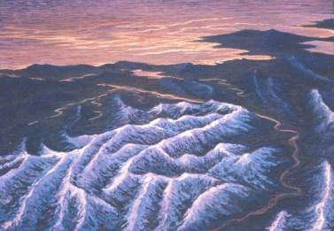Sunset - Acrylic/masonite - 22 x 32 inches