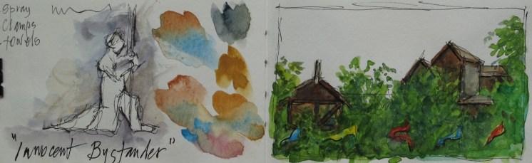 Ashland, Oregon - Watercolor - 3 x 12 inches