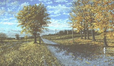Fall Road - Acrylic/canvas - 28 x 44 inches