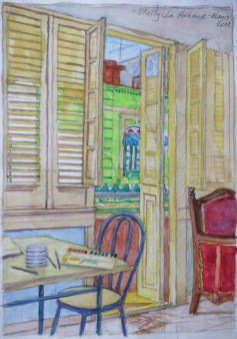 Havana Apartment - Watercolor - 7 x 10 inches