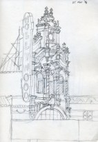 Hollywood Theatre 2 - Pencil/paper - 7 x 10 inches
