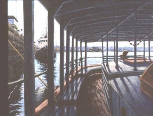 La Lancha - Oil/canvas - 26 x 32 inches