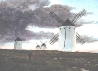 La Mancha: Molinos - Watercolor - 20 x 29 inches