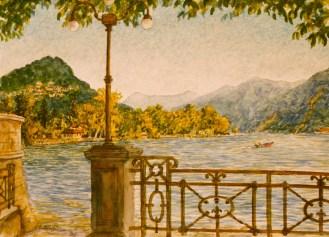 Lago Lugano - Watercolor - 7 x 10 inches