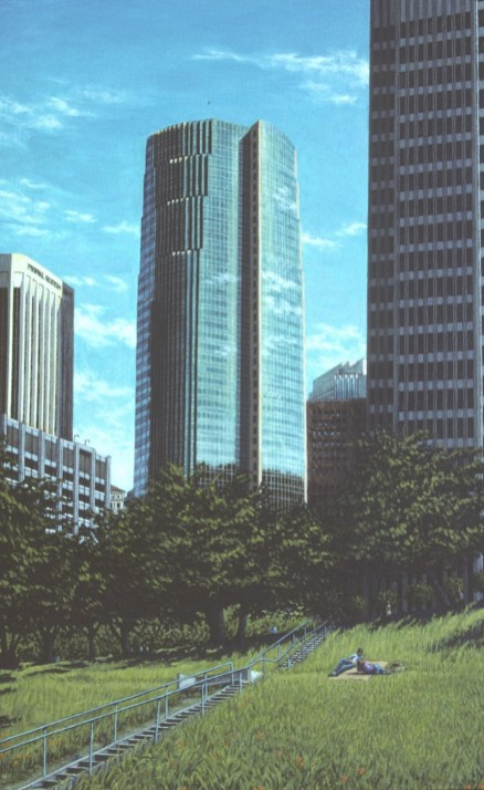 City Scene: San Francisco - Oil/canvas - 30 x 48 inches