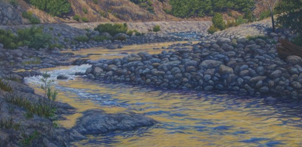 Low Water - Oil/canvas - 30 x 60 inches