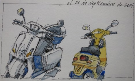 Motos - Watercolor - 3 x 6 inches