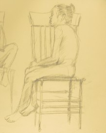 Figure Study: Child - Charcoal/paper - 7 x 9 inches