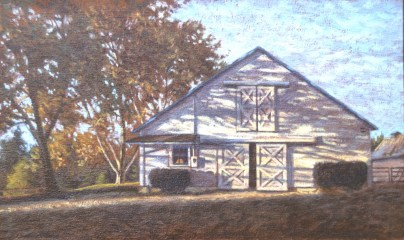 Loma Rica: Barn - Oil/canvas - 13 x 21 inches