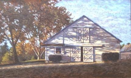 Loma Rica: Barn - Oil/canvas - 13 x 21 inches