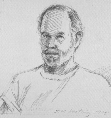 Self Portrait #2 - Pencil - 4 x 4 inches