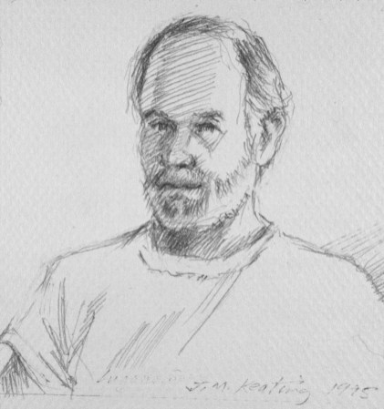 Self Portrait #2 - Pencil - 4 x 4 inches