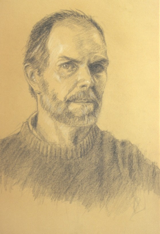 Self Portrait - Charcoal - 16 x 20 inches
