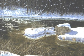 Snow Light - Oil/canvas - 21 x 32 inches