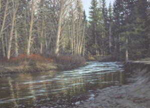 Ten Miles From Tahoe - Oil/paper - 21 x 28 inches