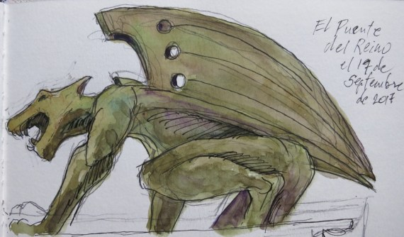 Guardian 3 - Watercolor - 3 x 6 inches