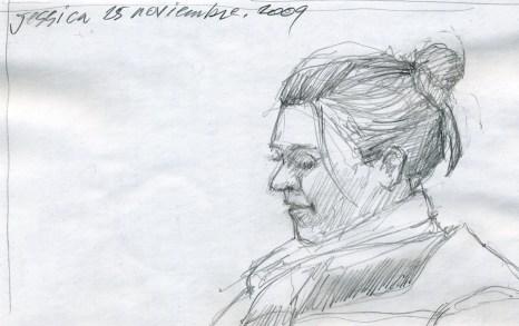 Jessie - Pencil/paper - 5 x 8 inches