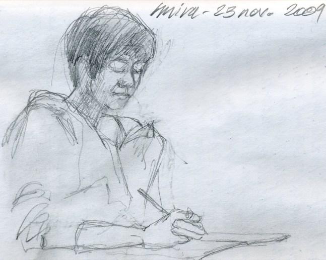 Mira - Pencil/paper - 5 x 8 inches