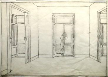 Palimpsest Sketch - Pencil/paper - 7 x 10 inches